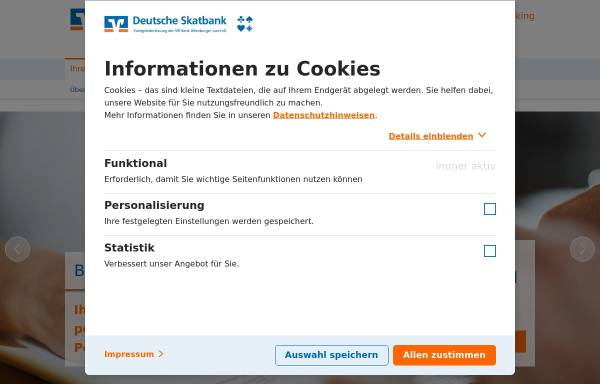 Vorschau von www.skatbank.de, Deutsche Skatbank - VR-Bank Altenburger Land eG