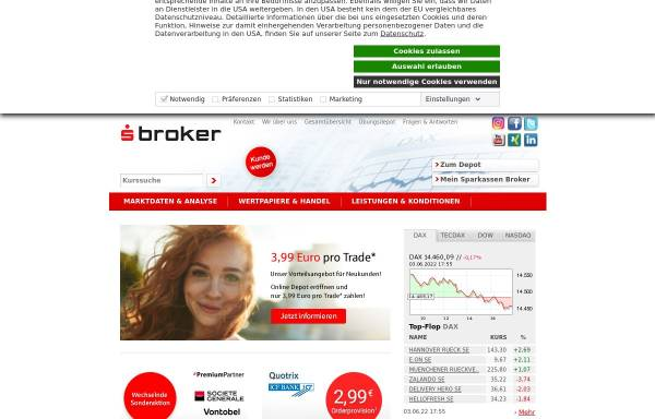 Vorschau von www.sbroker.de, S Broker AG