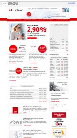 Vorschau der mobilen Webseite www.sbroker.de, S Broker AG