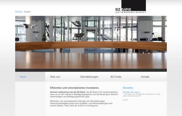Vorschau von www.bzbank.ch, BZ Bank AG