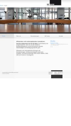 Vorschau der mobilen Webseite www.bzbank.ch, BZ Bank AG