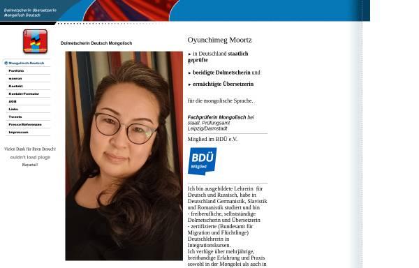 Vorschau von www.mongolisch-deutsch.de, Mongolisch-Deutsch.de - Oyunchimeg Moortz