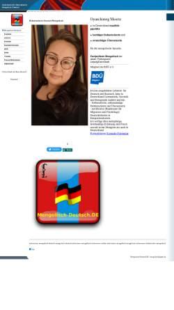 Vorschau der mobilen Webseite www.mongolisch-deutsch.de, Mongolisch-Deutsch.de - Oyunchimeg Moortz