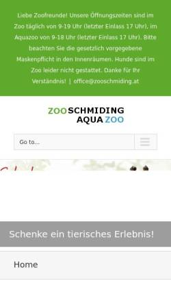 Vorschau der mobilen Webseite www.zooschmiding.at, Zoo Schmiding