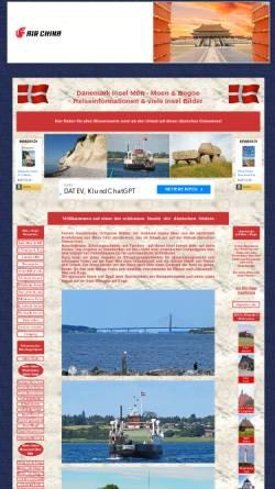 Vorschau der mobilen Webseite www.daenemark-moen.de, Insel Mön [Heinz Hahn]