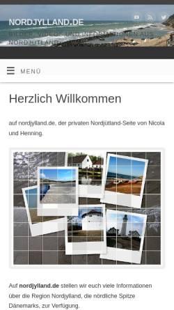 Vorschau der mobilen Webseite www.nordjylland.de, Nordjylland [Henning & Nicola Mierke]