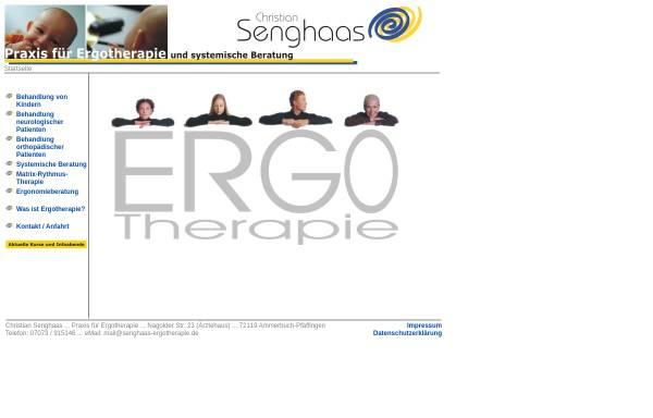 Vorschau von www.senghaas-ergotherapie.de, Praxis für Ergotherapie Christian Senghaas