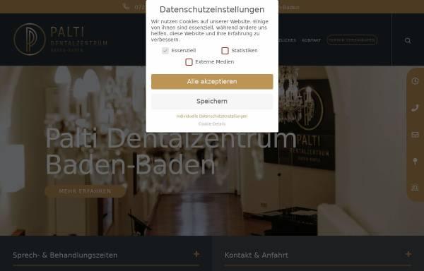 Vorschau von palti-dentalzentrum.de, videnti – Zentrum für Ästhetik und Implantologie