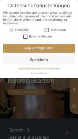 Vorschau der mobilen Webseite palti-dentalzentrum.de, videnti – Zentrum für Ästhetik und Implantologie