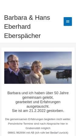 Vorschau der mobilen Webseite www.eberspaecher-systemische-salutogenese.de, Institut für systemische Salutogenese