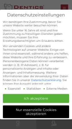 Vorschau der mobilen Webseite www.dentics.de, Dr. Anne Jacobi-Haumer