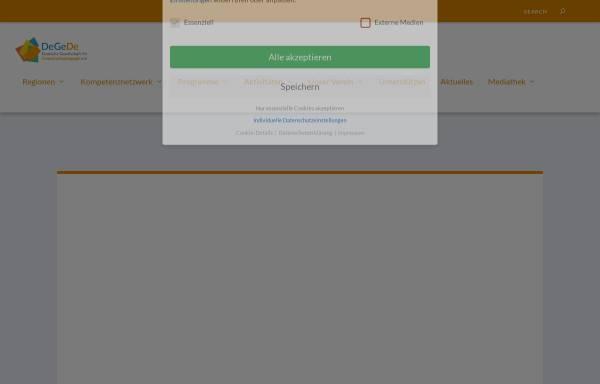 Vorschau von www.degede.de, Deutsche Gesellschaft für Demokratiepädagogik
