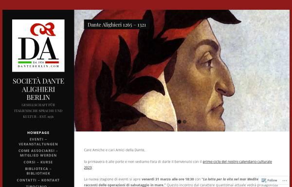 Vorschau von danteberlin.com, Società Dante Alighieri, Comitato di Berlino e.V.