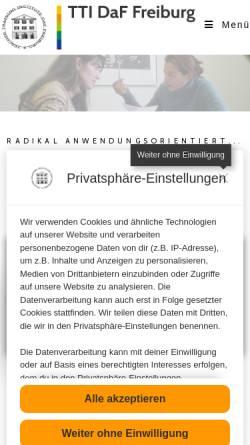 Vorschau der mobilen Webseite www.daf-lehrer.de, International House Freiburg