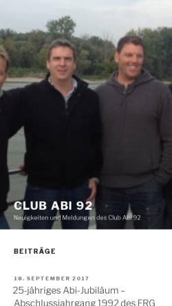 Vorschau der mobilen Webseite www.club-abi-92.de, Dannenberg - Fritz-Reuter-Gymnasium - Club Abi 92