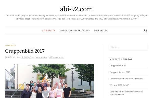 Vorschau von www.abi-92.com, Essen - Stadtwaldgymnasium