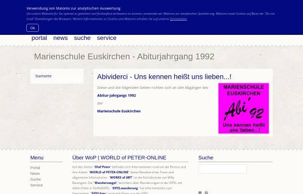 Vorschau von mseu-abi92.peter-online.de, Euskirchen - Marienschule - Abi '92