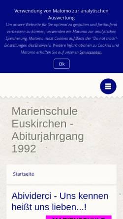 Vorschau der mobilen Webseite mseu-abi92.peter-online.de, Euskirchen - Marienschule - Abi '92
