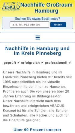 Vorschau der mobilen Webseite www.nachhilfe-hh.de, Abacus Nachhilfeinstitut, Kai Pöhlmann