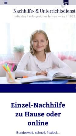 Vorschau der mobilen Webseite www.nachhilfe.com, Nachhilfe- und Unterrichtsdienst
