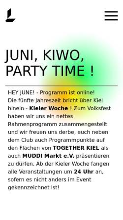 Vorschau der mobilen Webseite www.lunaclub.com, Luna Club Kiel