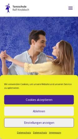 Vorschau der mobilen Webseite www.tanzschule-knobloch.de, Tanzschule Ralf Knobloch