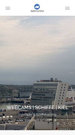 Vorschau der mobilen Webseite www.kielmonitor.de, Live Bilder aus Kiel