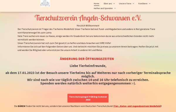 Vorschau von www.tierheim-weidefeld.de, Tierheim Weidefeld