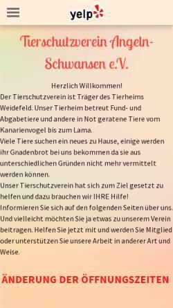 Vorschau der mobilen Webseite www.tierheim-weidefeld.de, Tierheim Weidefeld