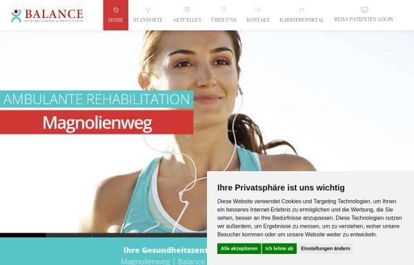 Vorschau von www.balance-aschaffenburg.de, Balance Rehabilitation und Krankengymnastik, Andreas Orth und Gerd Sauerwein GbR