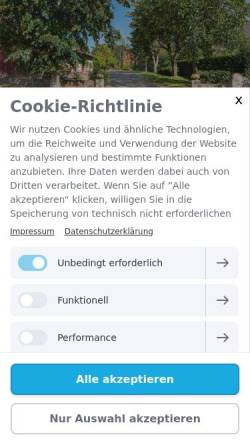 Vorschau der mobilen Webseite www.wisch-hof.de, Wisch-Hof Familie Krohn