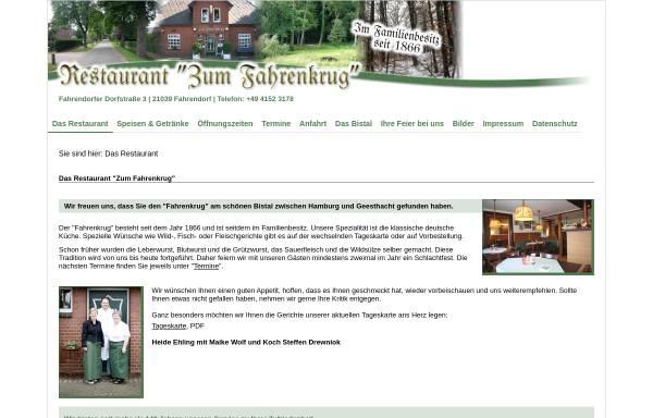 Vorschau von www.zum-fahrenkrug.de, Der Fahrenkrug