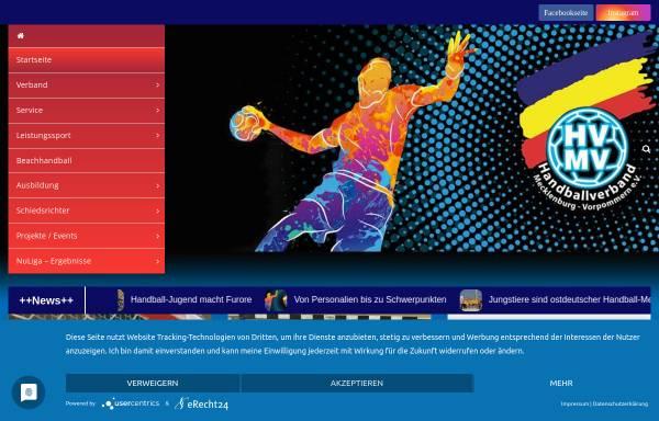 Vorschau von hvmv.de, Handball-Verband Mecklenburg-Vorpommern