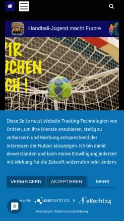 Vorschau der mobilen Webseite hvmv.de, Handball-Verband Mecklenburg-Vorpommern