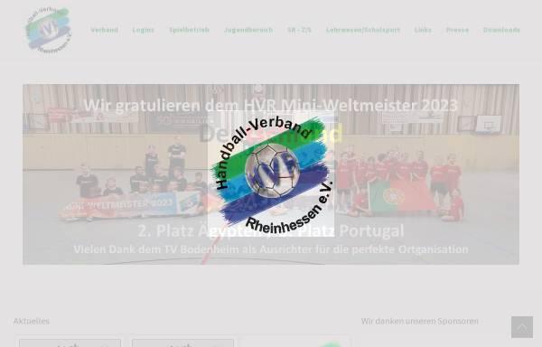 Vorschau von www.hv-rheinhessen.de, Handball-Verband Rheinhessen e. V.