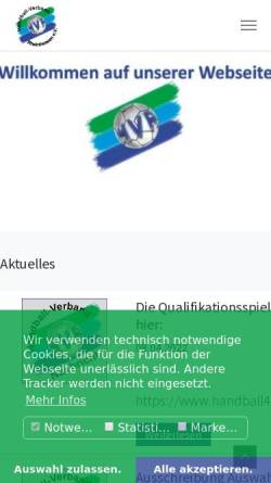 Vorschau der mobilen Webseite www.hv-rheinhessen.de, Handball-Verband Rheinhessen e. V.