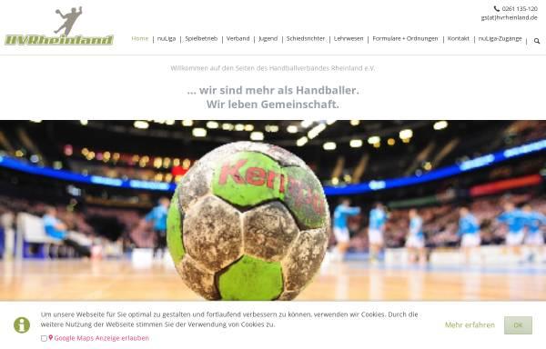 Vorschau von hvrheinland.de, Handball-Verband Rheinland e.V.