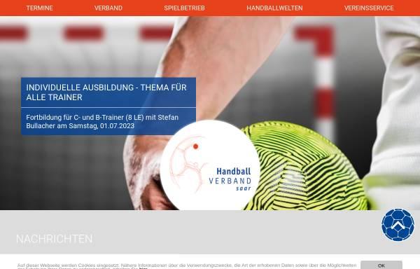 Vorschau von www.hvsaar.de, Handball-Verband Saar e. V.