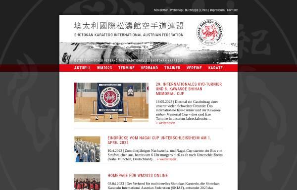 Vorschau von www.karate.at, Shotokan Karate International Österreich