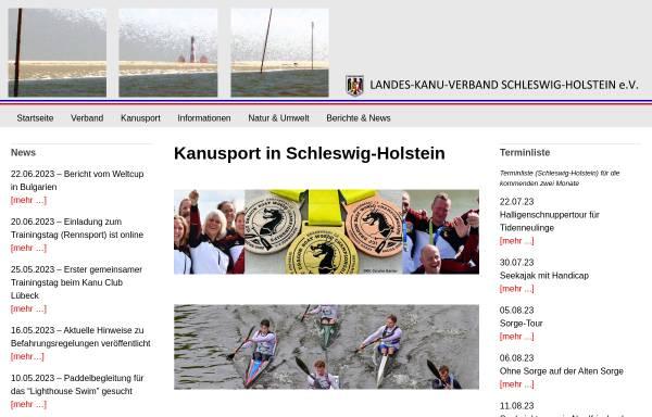 Vorschau von www.kanu-sh.de, Landes-Kanu-Verband Schleswig-Holstein e.V.