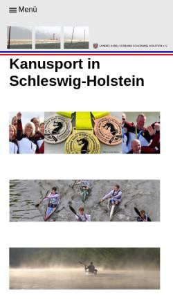 Vorschau der mobilen Webseite www.kanu-sh.de, Landes-Kanu-Verband Schleswig-Holstein e.V.