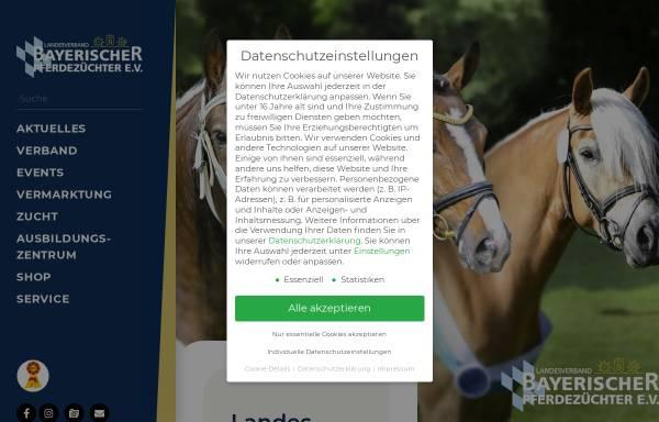 Vorschau von www.pferdeverband-ndb-opf.de, Pferdezuchtverband Niederbayern-Oberpfalz e.V.