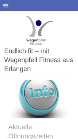 Vorschau der mobilen Webseite www.wagenpfeil-online.de, Christian Wagenpfeil Physiotherapie