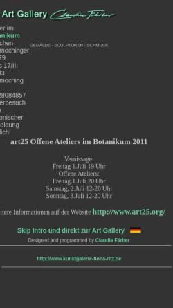 Vorschau der mobilen Webseite www.claudia-faerber.com, Färber, Claudia