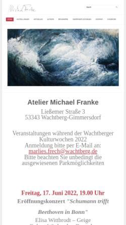 Vorschau der mobilen Webseite www.frankemichael.de, Franke, Michael