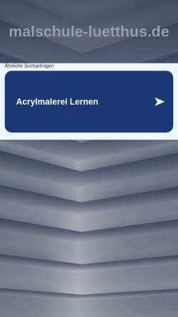 Vorschau der mobilen Webseite www.malschule-luetthus.de, Friedewald-Walberg, Dagmar