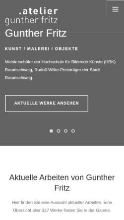 Vorschau der mobilen Webseite www.atelier-fritz.de, Fritz, Gunther