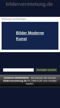 Vorschau der mobilen Webseite www.bildervermietung.de, Schmidt, Frank