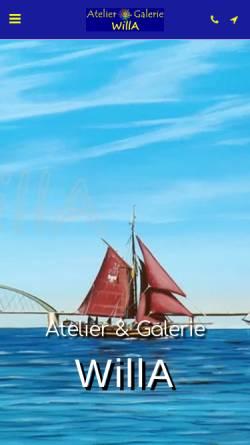 Vorschau der mobilen Webseite www.willa.de, Gehlen, Wiltrud Frauke