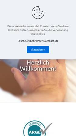 Vorschau der mobilen Webseite www.schuster-praxis.de, Christoph Schuster - Die Praxis für Physiotherapie und Chiropraktik